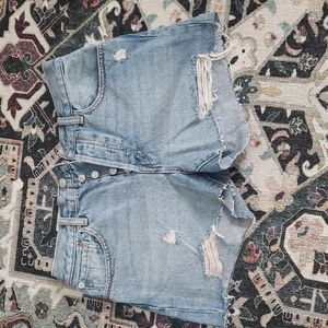 NWOT Free People Button-Up Jean Shorts